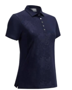Callaway Womens Embossed Floral Polo