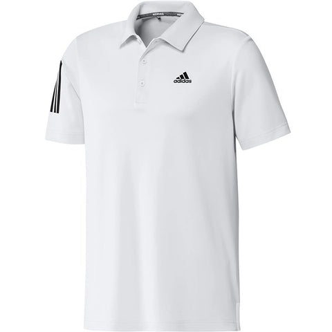 Adidas 3 Stripe Basic Polo White