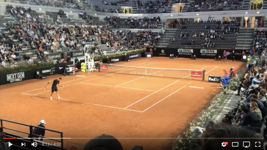 Del Potro vs Dimitrov Court Level View Rome 2017 R2