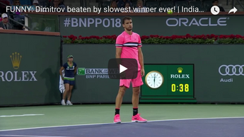 Dimitrov beaten by slowest winner ever!