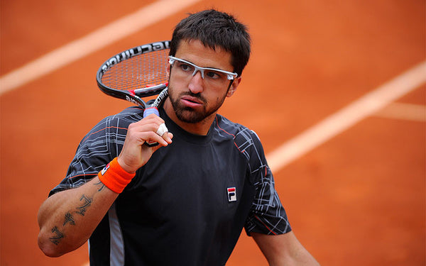 Tipsarevic sponsored by file and technifibre