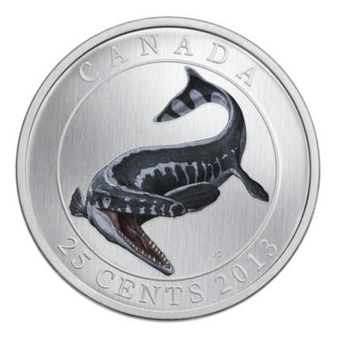 A Chance To Win 2013 Glow In The Dark Prehistoric Animals: Tylosaurus Pembinensis Coin