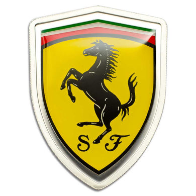 A Chance To Win Ferrari 2013 Emblem Cook Islands 2013 - 5$ - Ferrari 2013 Emblem - 20g LIMITED Silver Coin