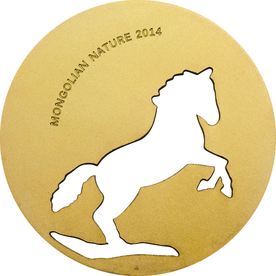 A Chance To Win Mongolia 2014 500 Togrog Mongolian Nature - Horse Gold PL