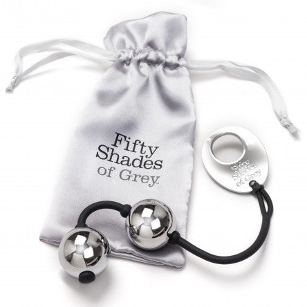 A Chance To Win FIFTY SHADES OF GREY - INNER GODDESS SILVER METAL PLEASURE BALLS