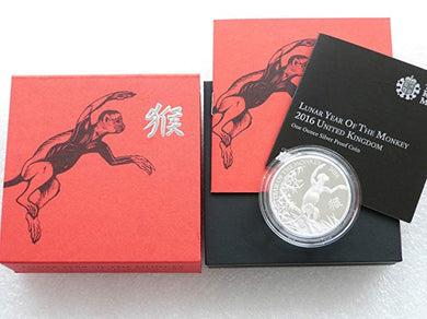 Lunar Year of the Monkey 2016 UK One Ounce Silver Proof Coin
