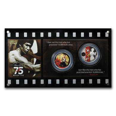 A Chance To Win 2015 Niue 2-Coin Bruce Lee 75th Anniversary Ltd. Ed. Proof Set