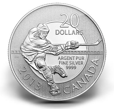 A Chance To Win 2013 $20 for $20 Hockey - Pure Silver Coin
