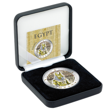 A Chance To Win Fiji 2012 1$ Anubis Golden and Colorful EgyptProof Silver Coin