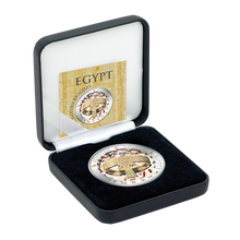 A Chance To Win Fiji 2012 1$ Bracelet of Queen Ahhotep Golden and Colorful Egypt Proof Silver Coin