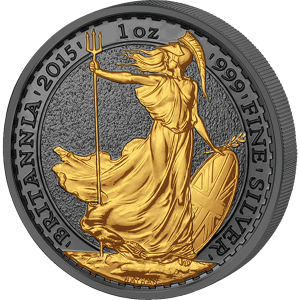 A Chance To Win United Kingdom 2015 2 pounds Golden Enigma Edition 2015 - Britannia BU Silver Coin