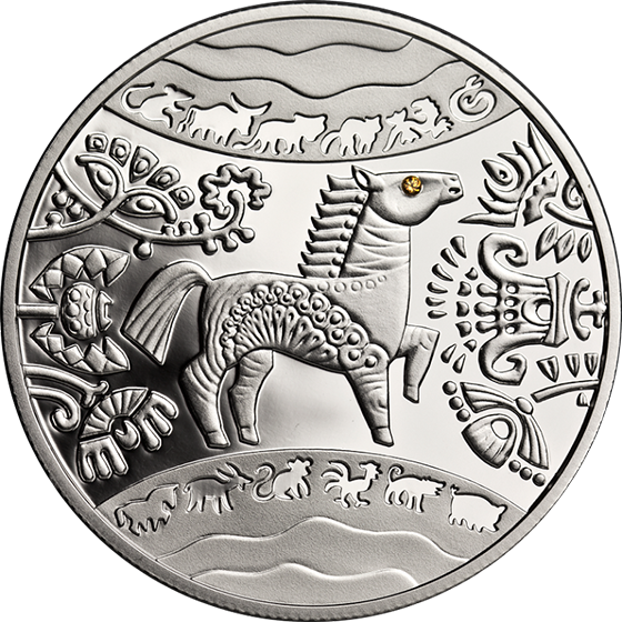 A Chance To Win Ukraine 2014 5 Hryvnia's Year of the Horse Proof Silver Coin
