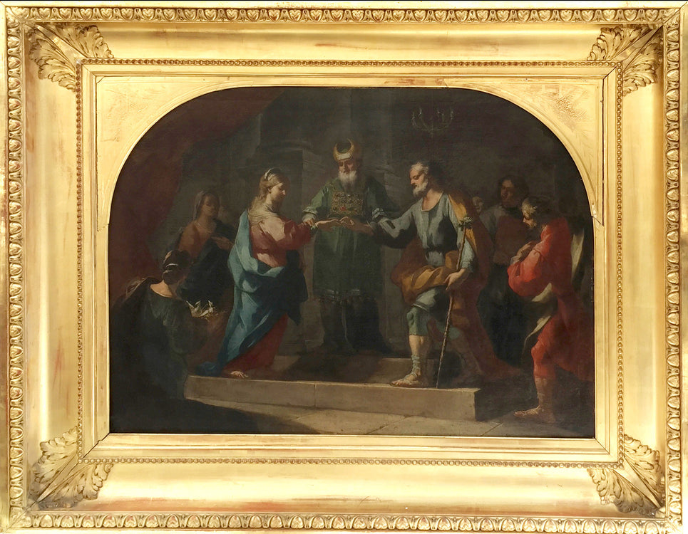 Marriage of the Virgin Mary Neapolitan Painting