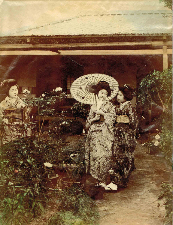 Japanese Hand Coloured Albumen Prints