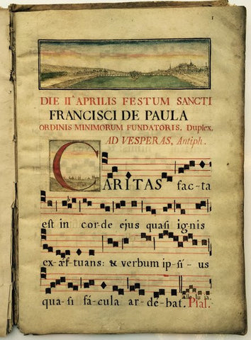 Rare Old Book Antiphonary