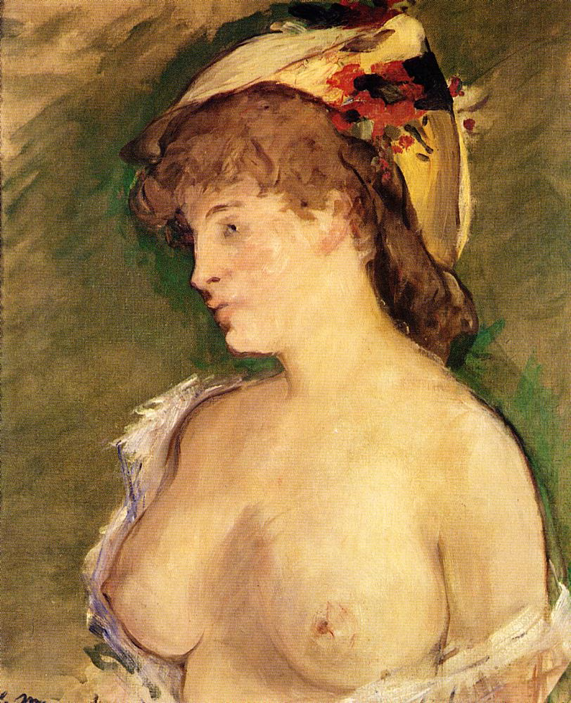 Manet Blonde Bare Breasts 1878