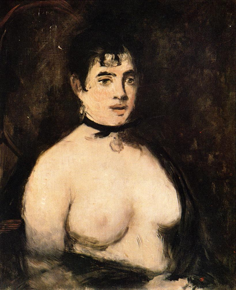 Manet-brunette-with-bare-breasts-1872