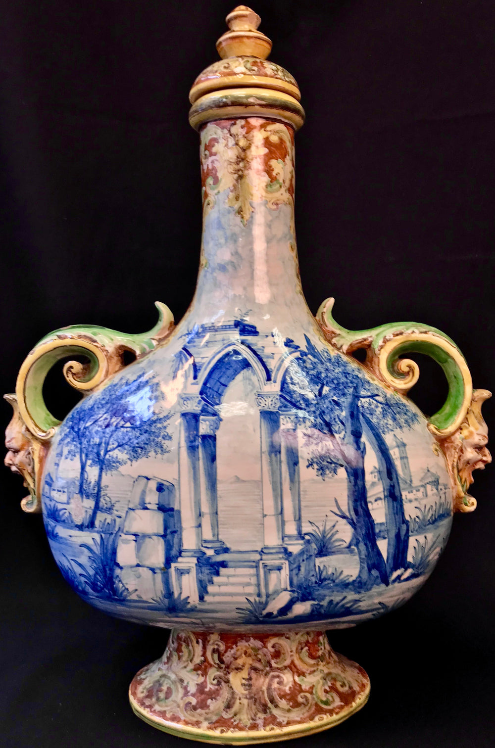 AN ITALIAN MAIOLICA VASE THIRD QUARTER 19TH CENTURY  ANGELO MINGHETTI - appleboutique-com
