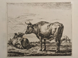 Adriaen van de Velde, Old Master Print Three Bull, ca. 1657/1659 - appleboutique-com