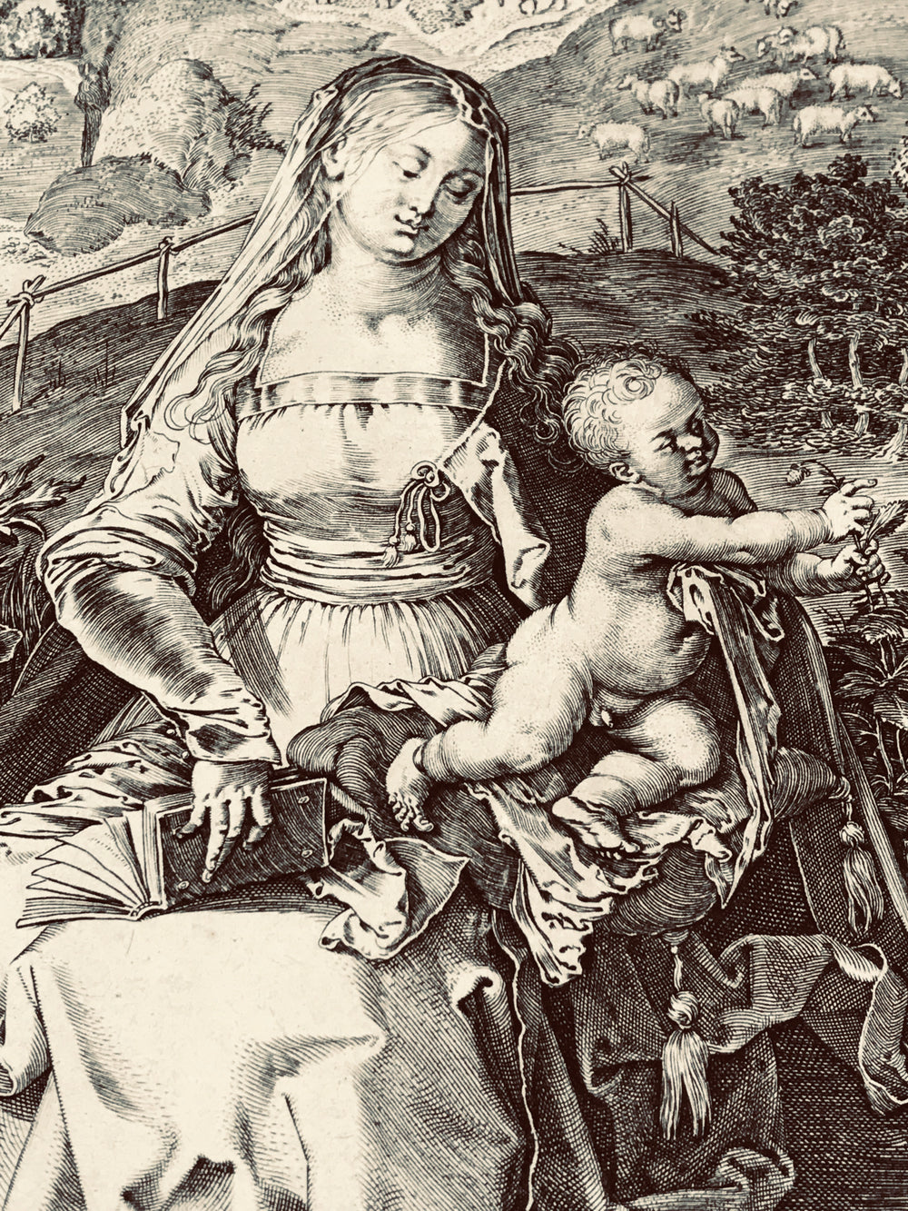 Aegidius Sadeler Virgin and Child after Albrecht Dürer