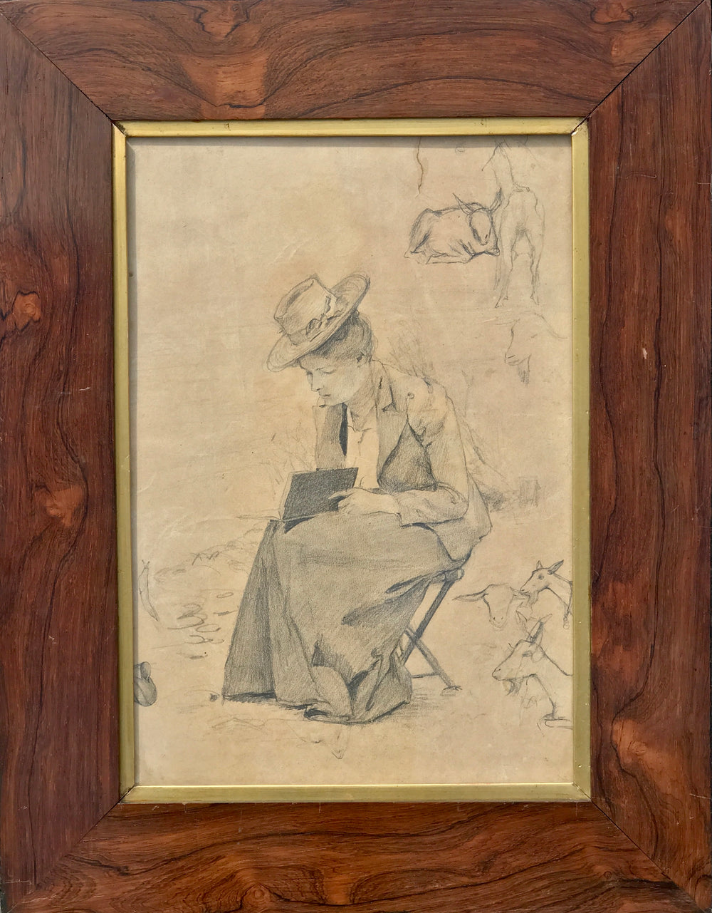 Artist Portrait of Anna Foerster Roesler Graphit Drawing