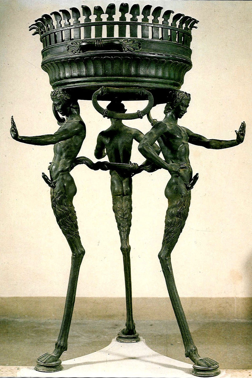 AN ITALIAN BRONZE JARDINIERE  AFTER THE ANTIQUE, BY SABATINO DE ANGELIS & FILS, 1906