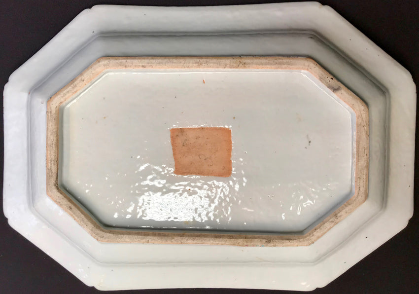 CHINESE FAMILLE ROSE OCTAGONAL TRAY QIANLONG PERIOD - appleboutique-com