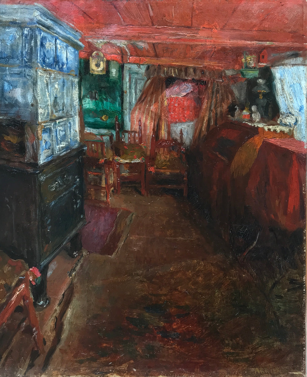 "Carl Arrien ""A North Frisian interior"""