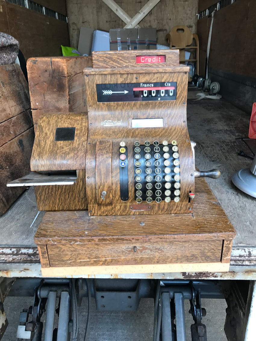 Old Wooden National Cash Register - appleboutique-com