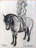 "Dame Laura Knight "" One of the Shetlands"" - appleboutique-com"