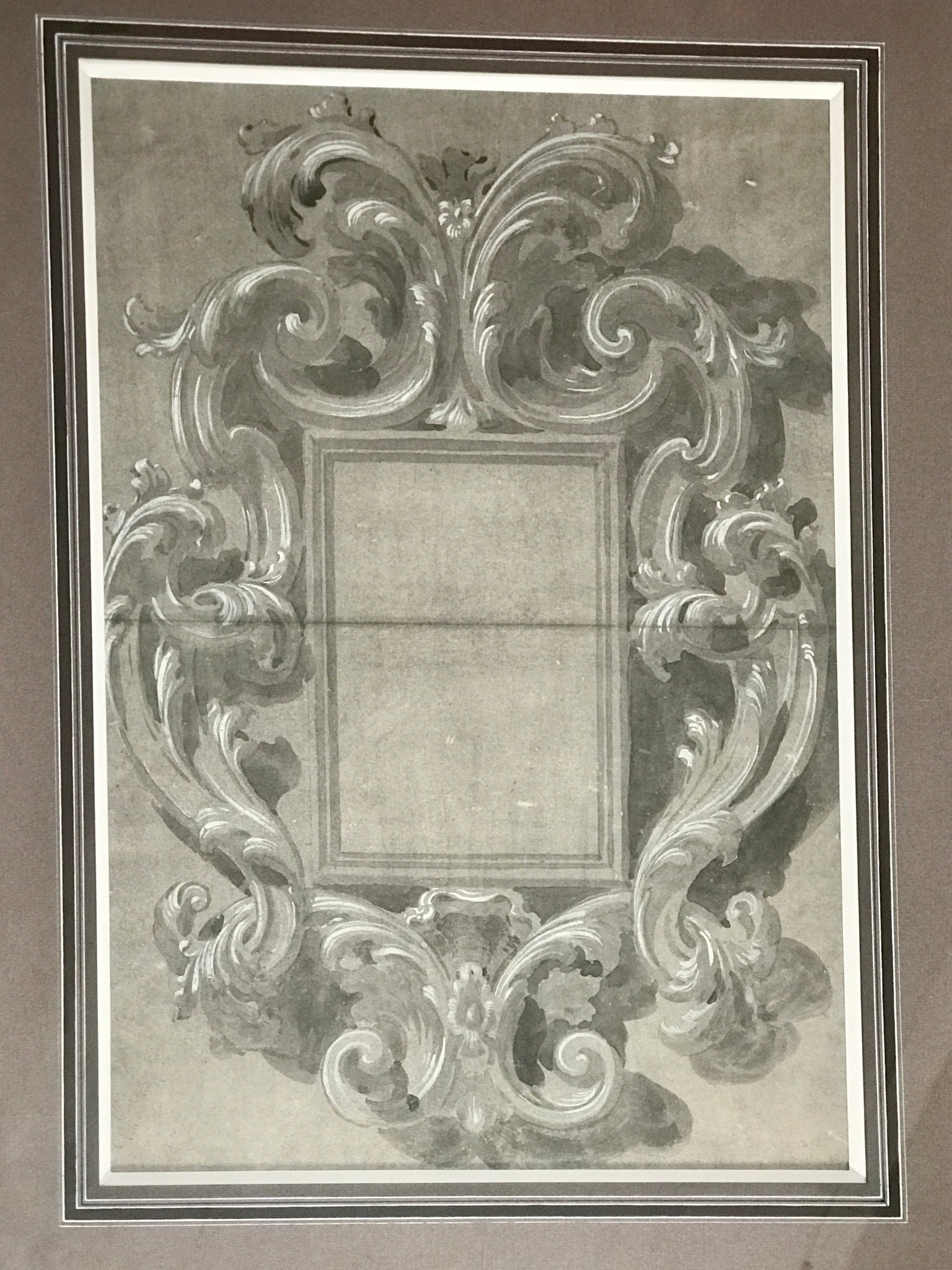 Drawing carved Florentine Mirror Frame