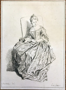 Print by Francois Boucher after Antoine Watteau - appleboutique-com