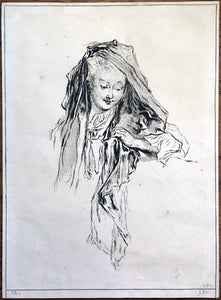 Print by Francois Boucher after Antoine Watteau