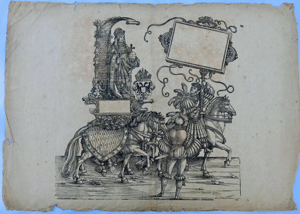 The Triumphal Procession of Emperor Maximilian; Hans Burgkmair Plate 106