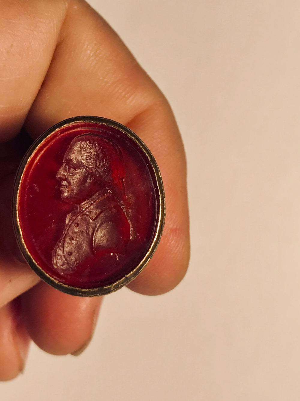 18th century Hardstone Intaglio Portrait Seal
