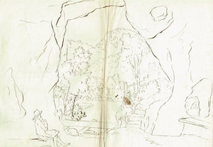 Hermann Dyck Sketches for a trip to Switzerland Old Master Drawing