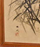 Chinese ink drawing Duck - Egrets - Bamboos and Peonies