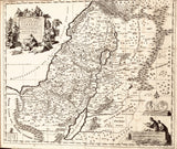 Map of the Holy Land divided into 12 tribes of Israel.