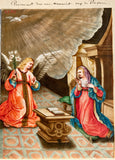 Annunciation Illuminated Leaflet, 16th century. Gouache and heightened gold on vellum