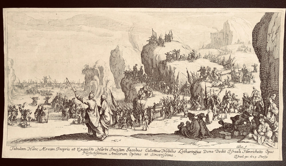 Jacques Callot, French, 1592–1635 Le Passage de la Mer Rouge (Crossing the Red Sea)