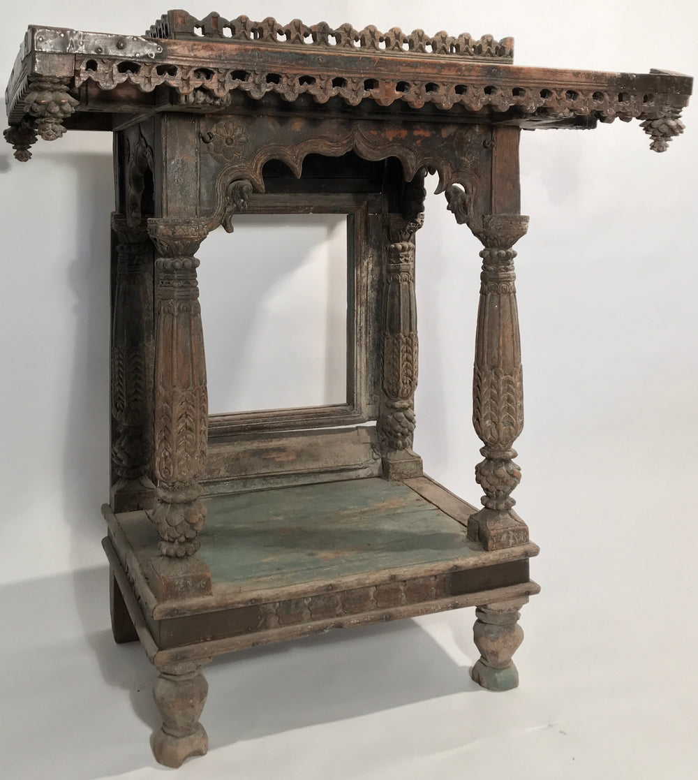 A Wood carved Jain Shrine from India 17th Century