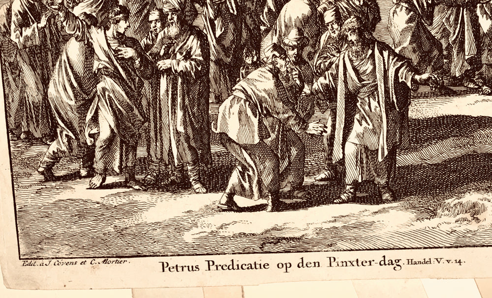 Jan Luyken - Prediction of St. Peter on the Day of Pentecost