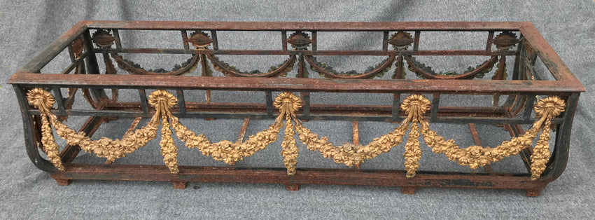 A PAIR OF FRENCH CAST-IRON AND GILT BRONZE JARDINIERES - appleboutique-com