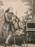 Leopold Mozart and His Children by Jean-Baptiste Joseph Delafosse Paris1764