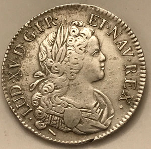Louis XV - Ecu de France et de Navarre 1718 W (Lille) - appleboutique-com