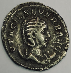 Otacilia Severa wife of Philip I 248 AD Roman Silver Coin