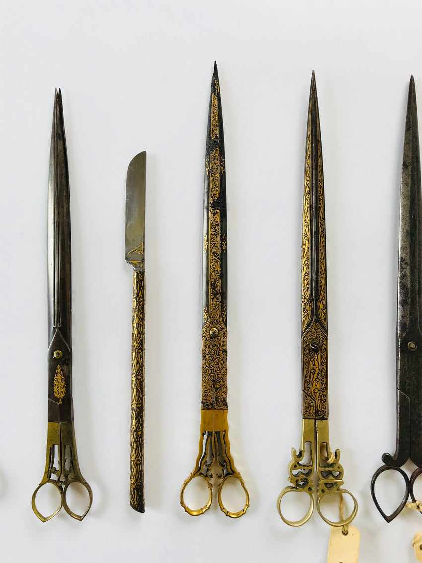 Ottoman Calligrapher's Gold Inlaid Scissors