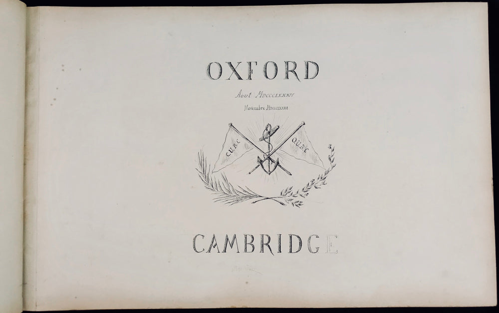 Pierre de Coubertin Memorabilia Oxford and Cambridge Album Olympic - appleboutique-com