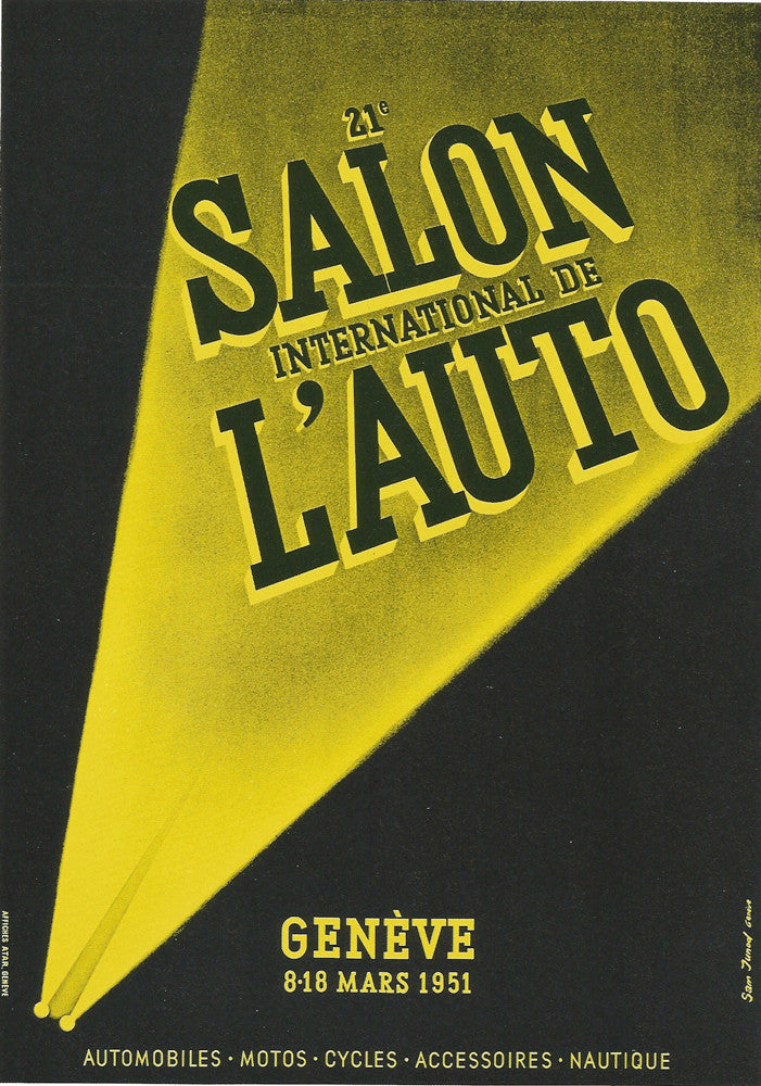 SALON INTERNATIONAL DE L'AUTO GENÈVE 1951 - appleboutique-com
