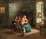 Jean Jules Adrien Kunkler (1829-1866) The Soldier's Departure - appleboutique-com